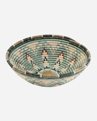 EXTRA LARGE AKAGERA BASKET IN SILVER BLUE MULTI