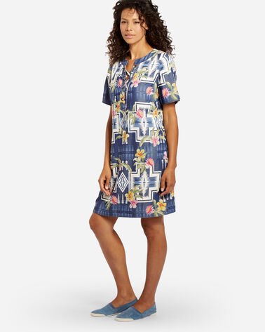 TOMMY BAHAMA & PENDLETON SHIFT DRESS, CHAMBRAY, large