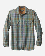WORSTED FLANNEL FITTED BUCKLEY SHIRT, SILVER PINE PLAID, large