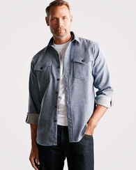 PENDLETON WOOLDENIM CASCADE SHIRT, BLUE DENIM, large