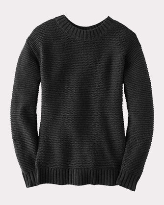 TEXTURED CREW NECK PULLOVER, , large