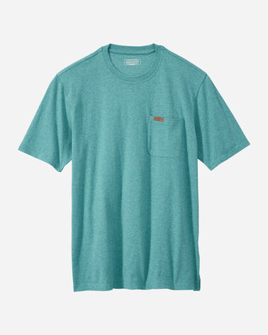 MEN'S SHORT-SLEEVE DESCHUTES POCKET TEE IN TURQUOISE HEATHER