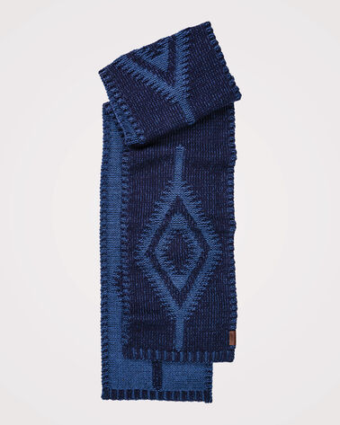 CASUAL SCARF, INDIGO, large
