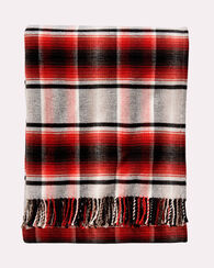 PLAID THROW, RED PLAID, large