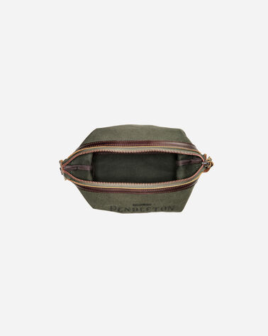 ADDITIONAL VIEW OF COTTON CANVAS ESSENTIALS POUCH IN PINE