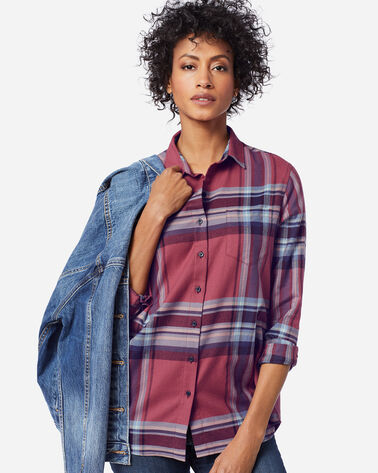 WOMEN'S FAVORITE FLANNEL SHIRT in ROSE PLAID