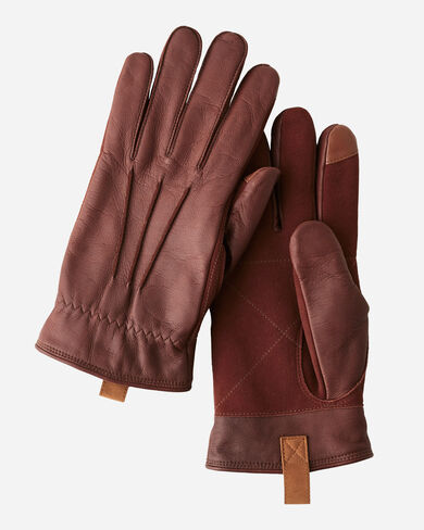 LEATHER GLOVES, TIMBER, large
