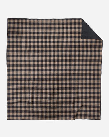 BUFFALO TRAIL PLAID DUVET SET, BLACK/TAUPE, large