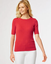 RIBBED PULLOVER CREWNECK, TRUE RED, large
