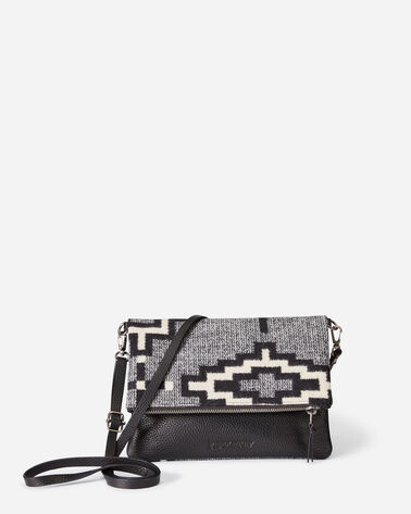 KIVA STEPS FOLDOVER CLUTCH, CHARCOAL, large