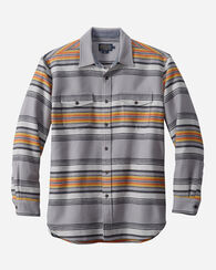 MEN'S SERAPE BEACH SHIRT, GREY STRIPE, large
