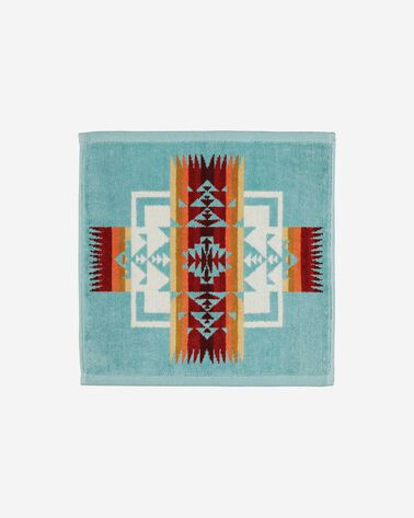 CHIEF JOSEPH WASHCLOTH, AQUA, large