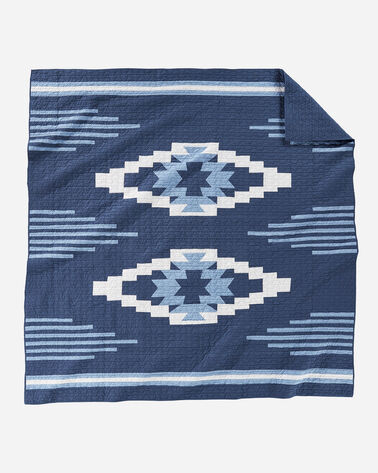 CREEKSIDE PIECED QUILT IN INDIGO