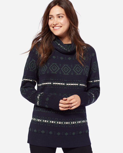 CHALET PULLOVER, NAVY, large
