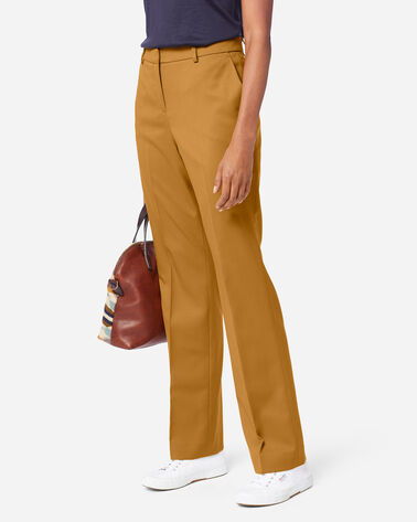 ADDITIONAL VIEW OF SEASONLESS WOOL LINED STRAIGHT LEG PANTS IN GOLDEN BROWN