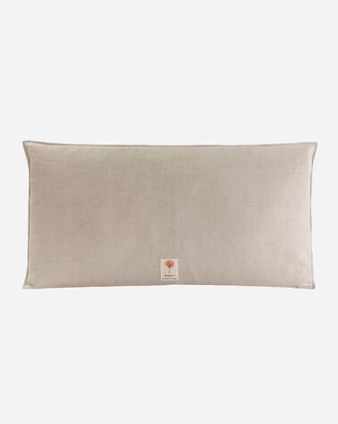 ADDITIONAL VIEW OF CACTI LUMBAR PILLOW IN NATURAL LINEN