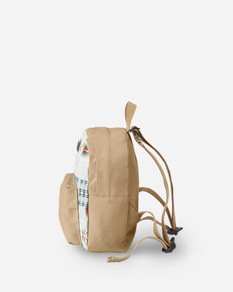ALTERNATE VIEW OF HARDING CANOPY CANVAS MINI BACKPACK IN AQUA