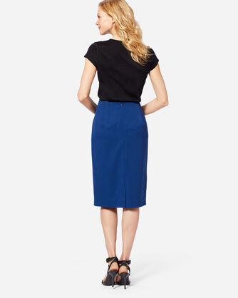 ADDITIONAL VIEW OF SEASONLESS WOOL PENCIL SKIRT IN ROYAL BLUE