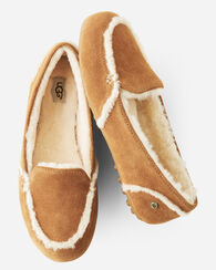 HAILEY SHEEPSKIN-LINED LOAFER SLIPPERS, CHESTNUT, large