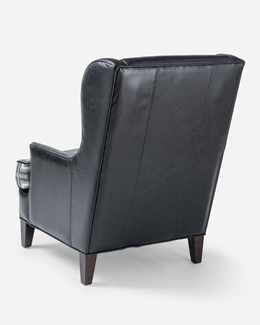 LEATHER LOGAN CHAIR, BLACK/SAN MIGUEL, large