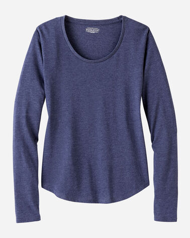 WOMEN'S LONG-SLEEVE JERSEY TEE IN NAVY HEATHER