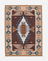 KEAMS SPIRIT LINCOLN RUG IN NATURAL/BLUE