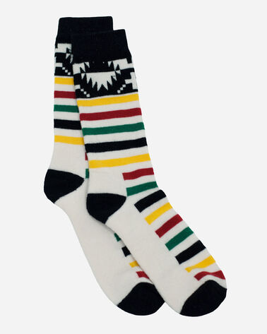 NATIONAL PARK MERINO JACQUARD CREW SOCKS IN GLACIER PARK