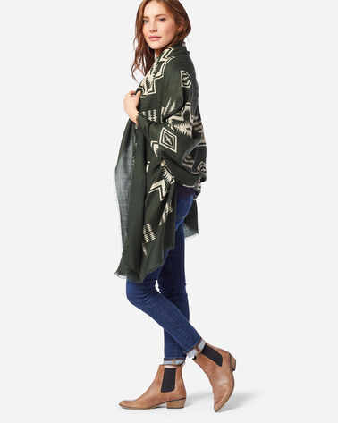 HARDING FEATHERWEIGHT WOOL SCARF IN ARMY