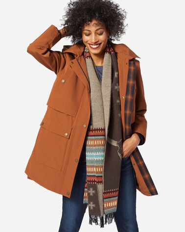 PENDLETON SIGNATURE LA CONNER ANORAK, WHISKEY, large