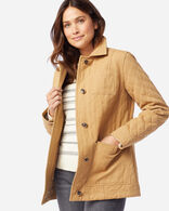 WOMEN'S FERN QUILTED CANVAS BARN COAT IN CHAMOIS