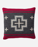 SAN MIGUEL KNIT PILLOW IN BLACK HEATHER