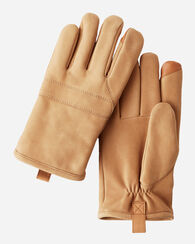 3-POINT LEATHER GLOVES, FATIGUE, large