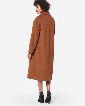ADDITIONAL VIEW OF LONG WOOL COAT IN VICUNA