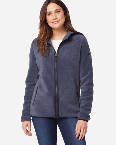 WOMEN'S FLEECE HOODIE IN NAVY HEATHER