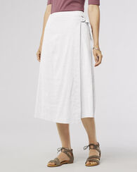 AIMEE CHAMBRAY SKIRT, WHITE, large