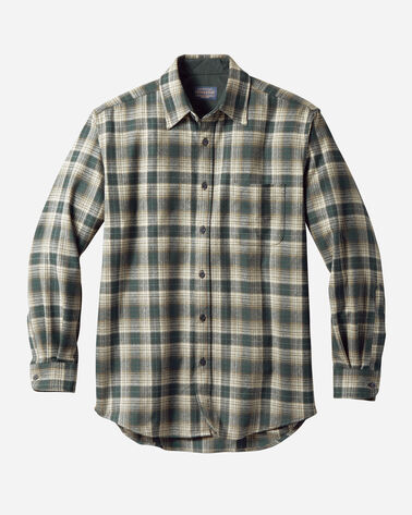 MEN'S LODGE SHIRT IN GREEN OMBRE
