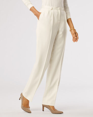 SEASONLESS WOOL PLEAT-FRONT TROUSERS