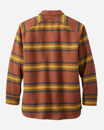 ALTERNATE VIEW OF MEN'S DOUBLESOFT FLANNEL DRIFTWOOD SHIRT IN RED CAMP STRIPE