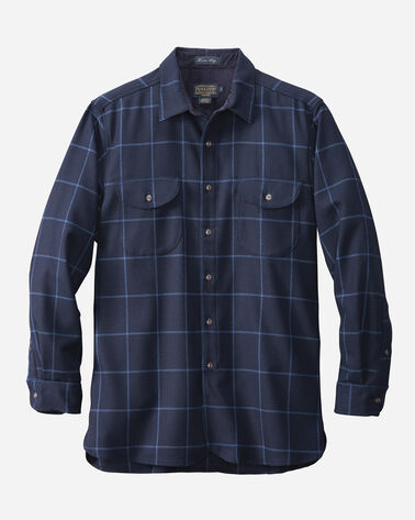 FITTED BUCKLEY SHIRT, NAVY WINDOWPANE, large