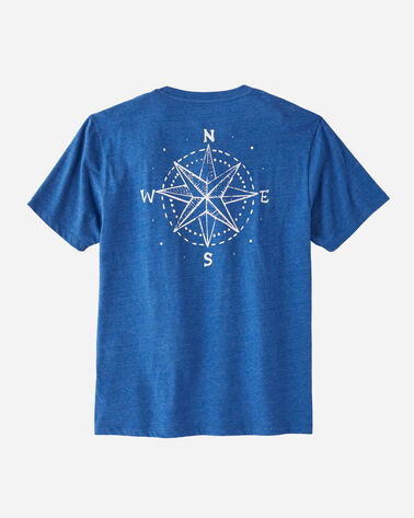 MEN'S NORTH STAR GRAPHIC POCKET TEE, TRUE BLUE HEATHER, large