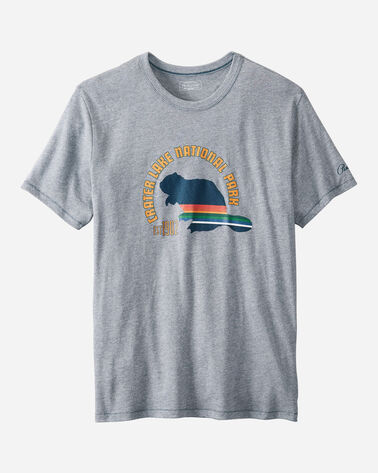 CRATER LAKE NATIONAL PARK TEE IN LT INDIGO CRATER LAKE