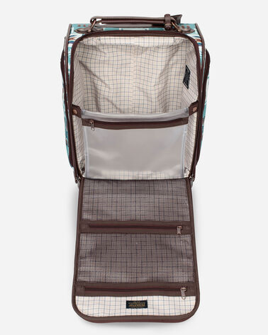 ALTERNATE VIEW OF HARDING ROLLING UNDERSEAT CARRY-ON IN AQUA