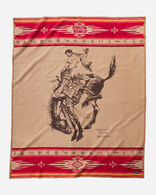 PENDLETON ROUND-UP COLLECTIBLE BLANKET IN RED/BROWN