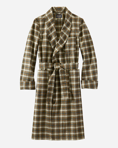 MEN'S WASHABLE WHISPERWOOL ROBE IN CAMPBELL TARTAN