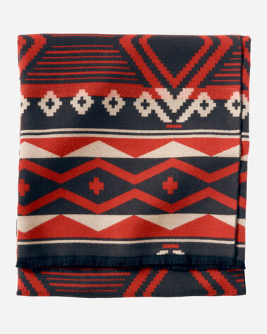 SAXONY HILLS THROW, RED, large