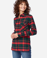 DOUBLE-BRUSHED FLANNEL ELBOW PATCH SHIRT IN KILGORE DRESS TARTAN