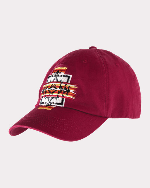 CHIEF JOSEPH EMBROIDERED CAP, RED, large