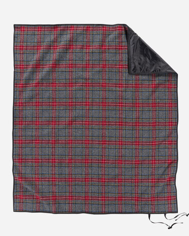 ROLL-UP BLANKET, CHARCOAL STEWART TARTAN, large