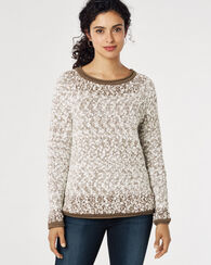 SOFT TEXTURED PULLOVER, LIGHT TAUPE MIX, large