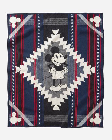DISNEY'S MICKEY'S DEBUT THROW IN BLUE
